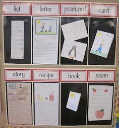 Writing ~ great way to show examples of different types of writing