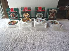 Lot Of 4 Hallmark Keepsake Ornament Collector Plates,1,1987,1,1989,1,1991,1,1992 #vintage #collectibles #kitchen #home