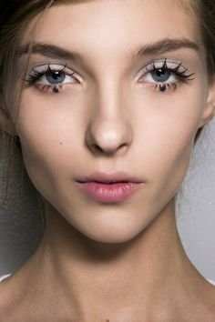 Better start practicing your flutter, because lashes are front and center among Fashion Month's big beauty trends. But next season's version isn't merely curled and mascara-ed. Makeup Trends, Makeup Inspo, Beauty Trends, Makeup Inspiration, Beauty Hacks, Runway Makeup, Beauty Makeup, Eye Makeup, Hair Beauty