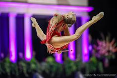 Melitina Staniouta (Belarus) got 18.350 points for her clubs routine at Qualifications, Olympic Games 2016