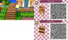Animal Crossing New Leaf  brown stone path QR code (had pinned this to my hair styles board on accident! lol )