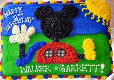 buttercream frosting mickey cake | Affordable Cakes by Tiffany: Mickey Mouse Club House Cakes