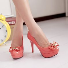Design pumps sweet bowknot slim heel elegant shoes Z-BD625 - Bingo E-commerce