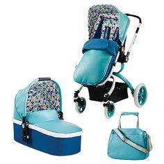 £800 + free car seat - Buy Cosatto Ooba 3-in-1 Pushchair, Duck Egg Online at johnlewis.com