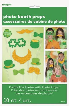 St Patrick's day photo booth props http://www.wfdenny.co.uk/p/st-patricks-day-photo-booth-props/6259/