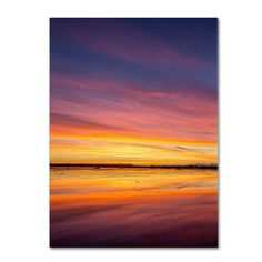 Boundary Sunset by Pierre Leclerc Photographic Print on Wrapped Canvas