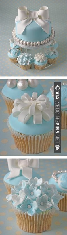 love the blue cake | VIA #WEDDINGPINS.NET