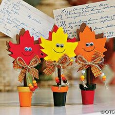 Image detail for -Fun Kids Fall Crafts - Fall Leaves Recipe Holder Craft Kit Fall Arts And Crafts, Autumn Crafts, Fall Crafts For Kids, Thanksgiving Crafts, Kids Crafts, Holiday Crafts, Art For Kids, Diy And Crafts, Paper Crafts
