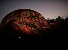 #Ozora Festival #Chill Dome #Night #painting #Goa #Psytrance #Trance  (c) Manuela Gaßner