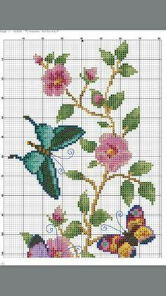 Butterfly Cross Stitch, Cross Stitch Art, Beaded Cross Stitch, Crochet Cross, Cross Stitch Animals, Cross Stitch Flowers, Cross Stitch Designs, Cross Stitch Embroidery, Cross Stitch Patterns