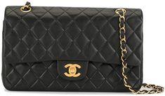 2001 CC logo double flap shoulder bag Chanel, Shoulder Bag, Logo, Classic, Fashion, Derby, Moda, Logos, Fashion Styles
