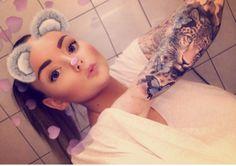 #tattoo #fullsleeve #sleeve #butterfly #leopard #girl