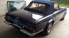 (Oldies) Mercedes 280 SL, pare-chocs arrière remplacé, livrée . Carrosserie inter-union - 53 route de suisse, 1295 Mies Tél.022 755 45 30 - Fax. 022 779 03 28 Site internet: www.interunion.ch