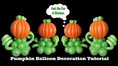 Pumpkin Balloon Decoration Tutorial #halloween #fall