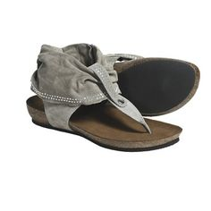 Bionatura Genoa Thong Sandals (For Women) in Taupe Suede