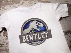 Personalized Jurassic World Shirt by littlemacboutique on Etsy