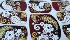 Flowers, 3d nail art, 3-d sliders, Nails, Waterslide Decals, Water Transfers, Nail Wraps, Nail Decals