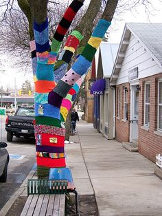 If I had the time and the funds, I would almost certainly spend every weekend yarn bombing! XD
