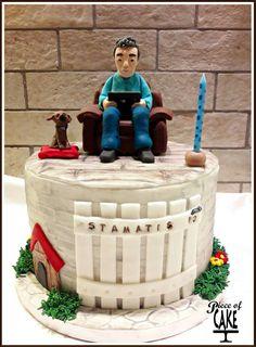 Fondant cake (father's birthday)