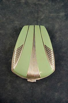 Vintage Art Deco Compact Mint Green