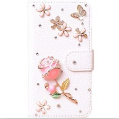 DIY Cute Crystal Diamond Flip Leather Case Cover for Meizu m2 note meilan note 2,Handmade Bling PU Mobile Phone Cases