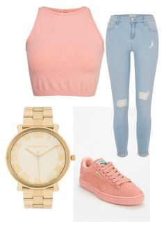 """""""Untitled #16"""" by qveenmm ❤ liked on Polyvore featuring Free People, River Island and Michael Kors"""
