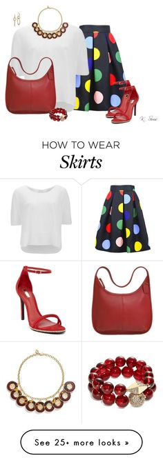 """I love this skirt"" by ksims-1 on Polyvore featuring Vero Moda, Schutz, Coach, Tory Burch, T+C by Theodora & Callum and John Hardy"