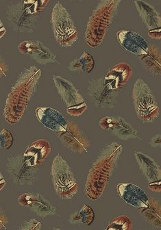 Beautiful feather wallpaper for cabins and rustic mountain lodges.  Just one in our designer-curated collection of cabin wallpapers.  (530) 583-6076