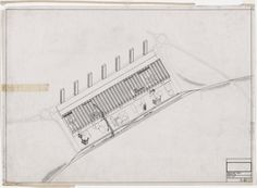 Cedric Price. Potteries Thinkbelt Project, Staffordshire, England (Axonometric of Madeley Transfer Area). 1964–1966