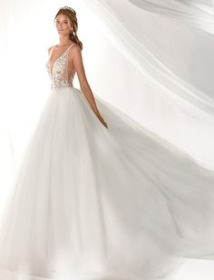 Most current Photographs Macrame wedding dress Thoughts Marvellous princely ivory and gold wedding dress in tulle and enriched by beaded macrame lace appli Gold Wedding Gowns, Fairy Wedding Dress, Designer Wedding Gowns, Wedding Party Dresses, Elegant Wedding, Bridal Dresses, Gold Bridesmaid Dresses, Black Prom Dresses, Formal Dresses