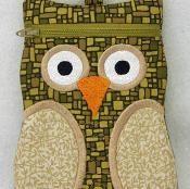 Machine Embroidery Owl Zipper Cases - via @Craftsy