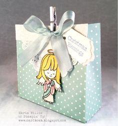 Maria Willis www.cardbomb.blogspot.com #cardbomb, #stampinup, #christmascuties, #handmade, #cards, #bags, #angel