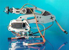 Abb Industrial Robot 688 Mechanical Arm 100% Alloy Manipulator 6-Axis Robot arm Rack with 6 Servos
