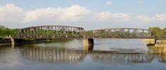 Küstrin-Kietz Oderinsel Eisenbahnbruecke ueber die Oder (Rechts Kuestrin Polen)
