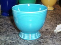Vintage Fiesta Ware Turquoise Egg Cup