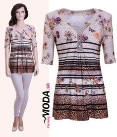 Letné dámske tričko pre moletky - trendymoda.sk Peplum, Dresses, Women, Fashion, Moda, Vestidos, Fashion Styles, Dress, Veil