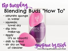 """Tip Tuesday! Younique Blending Buds are the way to go AND this is """"HOW""""... #tiptuesday #younique www.YouniqueProducts.com/Trish"""