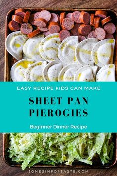 This quick and easy sheet pan dinner will become your new favorite go to for an easy weeknight dinner. Pierogies, cabbage, and polska kielbasa, a kind of sausage, are cooked all together for a tasty p Easy Family Dinners, Fast Dinners, Easy Meals For Kids, Polska Kielbasa, Healthy Dinner Recipes, Cooking Recipes, Fast Dinner Recipes, Fast Easy Dinner, Cabbage And Sausage