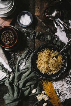 Aglio Olio Pasta | Food & Prop Styling