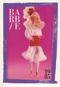 """Barbie Collectible Fashion Card  /"""" In The Pink /""""  1984"""