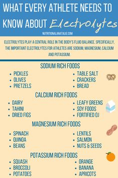 What Every Athlete Needs To Know About Electrolytes - ! A Permanent Health Kick ! - Healthy Recipes and Fitness Community - Nutrition Nutrition Education, Athlete Nutrition, Sport Nutrition, Nutrition Quotes, Proper Nutrition, Nutrition Plans, Nutrition Information, Nutrition Tips, Health And Nutrition