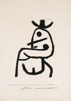 Paul Klee - Narrisch umschauend, 1940 (serigraph) order at discounted prices! Klimt, Kandinsky, Rembrandt, Paul Klee Art, Different Art Styles, Art Walk, China Art, Mark Rothko, Pablo Picasso