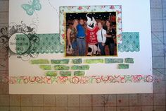 Scrapbook Layout by Anita Scroggins  The Deconstucted Layout