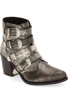 Steve Madden 'Praire' Buckle Strap Western Bootie (Women) available at #Nordstrom