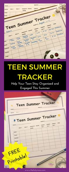 Teen Summer Tracker|