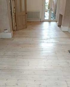 This original pine floor has been stained with a white oil, so you still see the grain and markings in the wood. Wooden Flooring, Hardwood Floors, Wood Floor Restoration, Stairs Cladding, Pine Floors, Oil, The Originals, Wood Flooring, Wood Floor Tiles