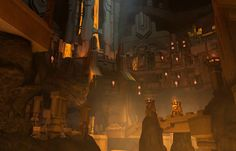 Scenes from the City of Nis Fantasy City, Fantasy Places, Fantasy World, Dragon Age, Dwarven City, Dwarf Fortress, Fantasy Dwarf, The Elder Scrolls, Medieval