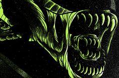 Alternative movie poster for Alien by J-Monster Art