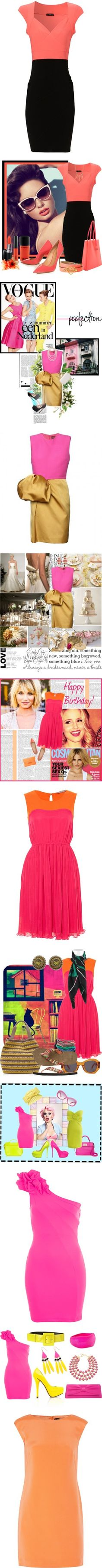 """""""Would You Wear It: Neon Bridesmaid Dresses"""" by polyvore-editorial ❤ liked on Polyvore"""