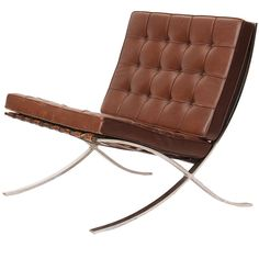 Barcelona Chair By Mies Van Der Rohe | From a unique collection of antique and modern lounge chairs at http://www.1stdibs.com/furniture/seating/lounge-chairs/